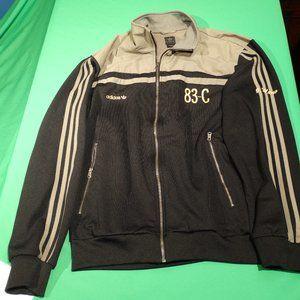 Adidas Men's XL Soccer Track Jacket Black GrayGold